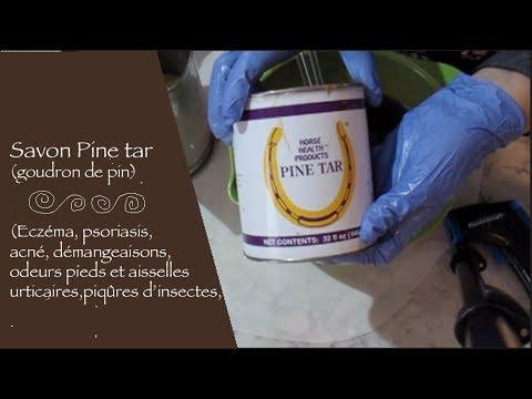 Faire un savon au goudron de pin (Pine tar) facile-facile!