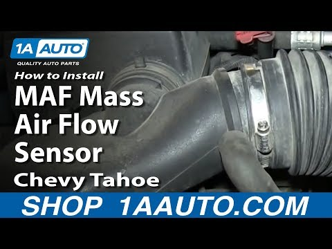 How To Install Replace MAF Mass Air Flow Sensor 5.7L 1996-99 Chevy Tahoe Suburban