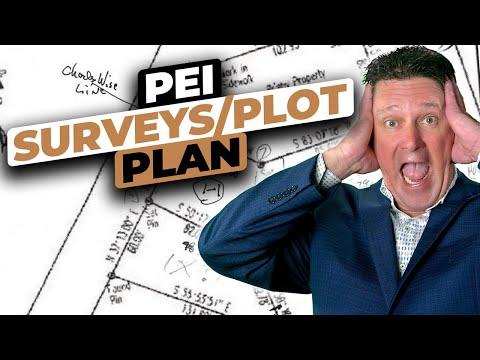 Prince Edward Island surveys survey plot plan deed property lines confirmed pin