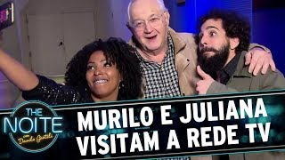 Murilo e Juliana visitam a Rede TV  | The Noite (22/09/17)