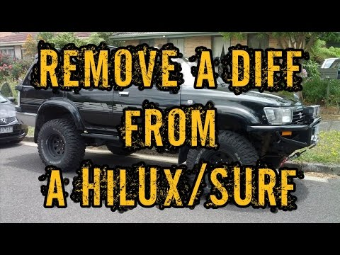 Remove a Diff Centre from a Toyota Hilux Surf