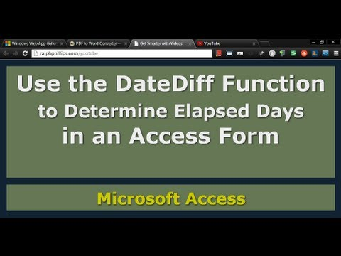 Use the DateDiff Function in a Form to Determine Days Elapsed