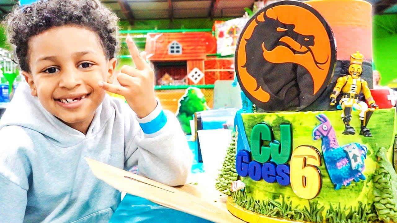 CJ TURNS SIX 🥳 ‼️ FORTNITE SLEEPOVER   KIDS PARTY BUS
