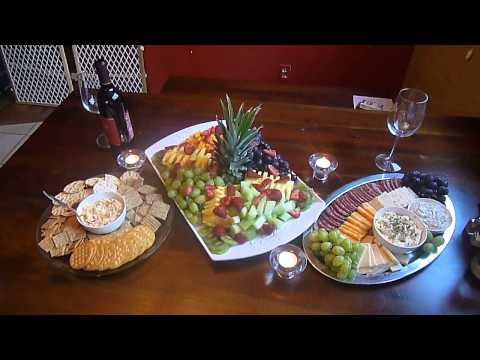 My fruit platter and meat and cheese platters I made for tonight's wine and cheese feast, lol.