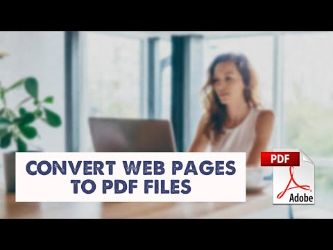 How to save webpage as a PDF file
