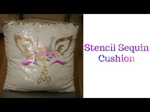 Stencil Sequin Cushion