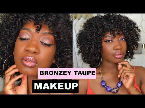 Warm Bronzey Taupe Makeup Tutorial | Dark Skin | Felicia Mesadieu - #1