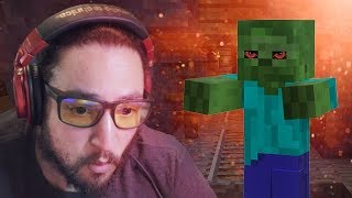 ONE BEEFY ZOMBIE - Minecraft No Mountain Survival Mini-Series Part 4