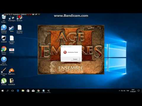 Age of Empires 3 initialization failed hatası çözümü (Türkçe)