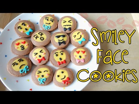 How to make Smiley Face Cookies 笑哈哈曲奇