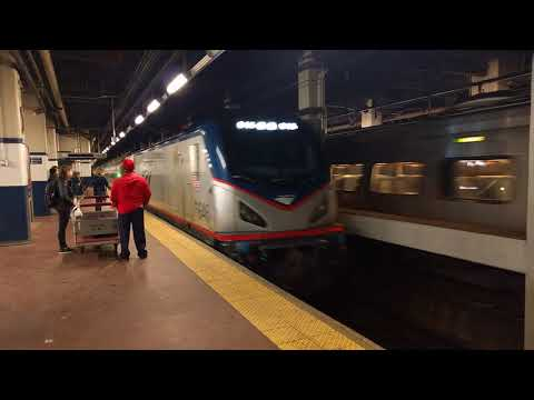 Amtrak #2032 and #646 Simultaneously Arriving at 30th St Station