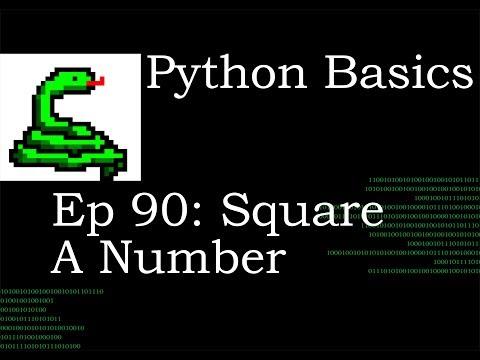 Python Basics Square Number
