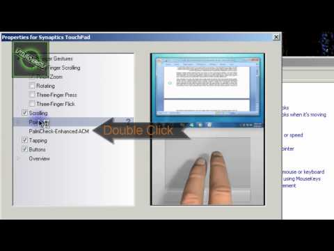 How to Enable the touch pad while typing! ( Synaptics touch device. )