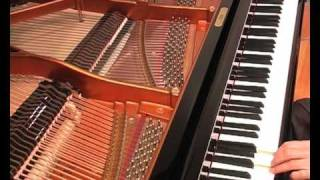 A Demonstration of Overtones and Beats on a Piano Tuned in Equal Temperament