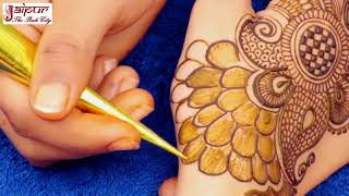 Beautiful mehndi designs for hands | latest peacock mehndi design for hands #134 @ jaipurthepinkcity