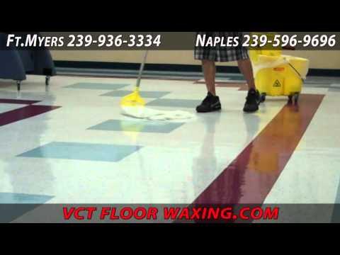 VCT Floor Waxing Naples