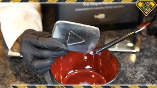 Liquid Metal Play Button Melts In Your Hand