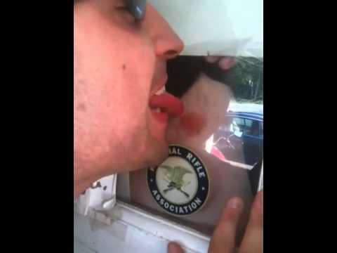Sexy nipple lick