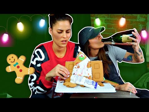 Lesbian Couple Makes A Gingerbread House ( DRUNK EDITION )