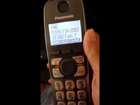 How to block and unblock a phone number on a panasonic handset