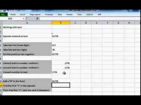 Work with Texts in Excel