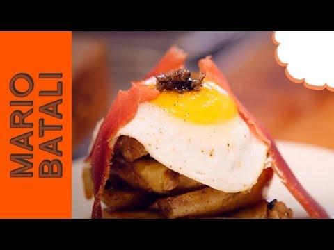 Mario Batali Presents: Duck Egg with Mojama at Casa Mono