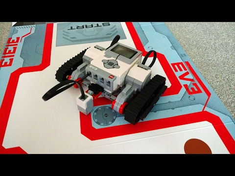 Lego Mindstorms EV3 following red line around included box sleeve