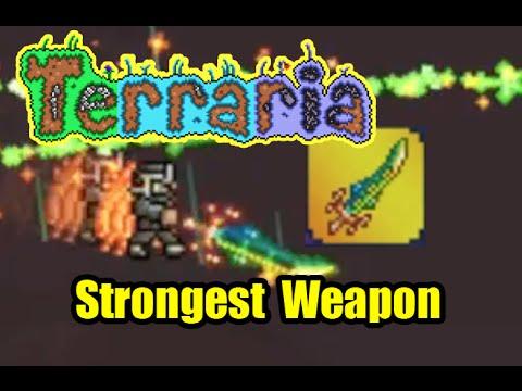 Terraria Best Strongest Weapon | Terra Blade Sword