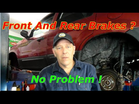 How To Replace Front And Rear Brakes With  Rotors On A  Ford Escape
