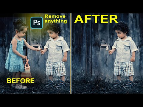 How to Remove anything in photosop hindi video.