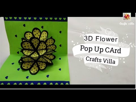 DIY-3D flower pop up card tutorial|crafts villa