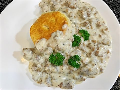 Homemade Biscuit and Gravy recipe - How to make Easy Sausage Gravy and Biscuits