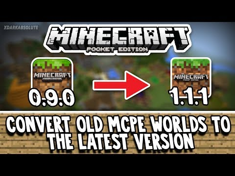 How To Convert and Restore Old MCPE Worlds To The Latest Version of MCPE