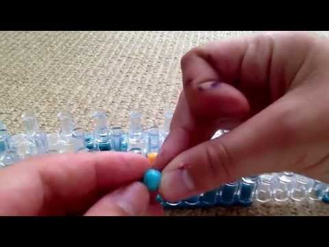Tutorial: How To Make The RainbowLoom Dotted Line Bracelet With Pony Beads