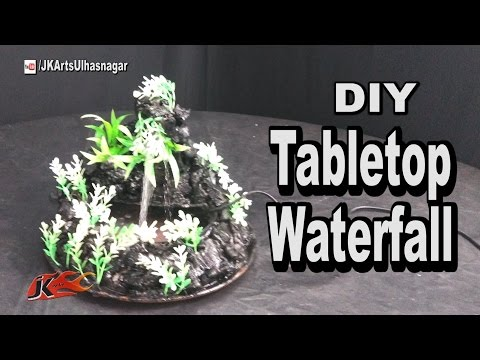 DIY How to make waterfall | TableTop  Cement Mountain Waterfall / Fountain | JK Arts 1060