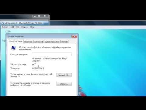 Windows 7: join an Active Directory domain