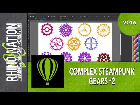 Create Complex Steampunk Gears #2 - CorelDraw