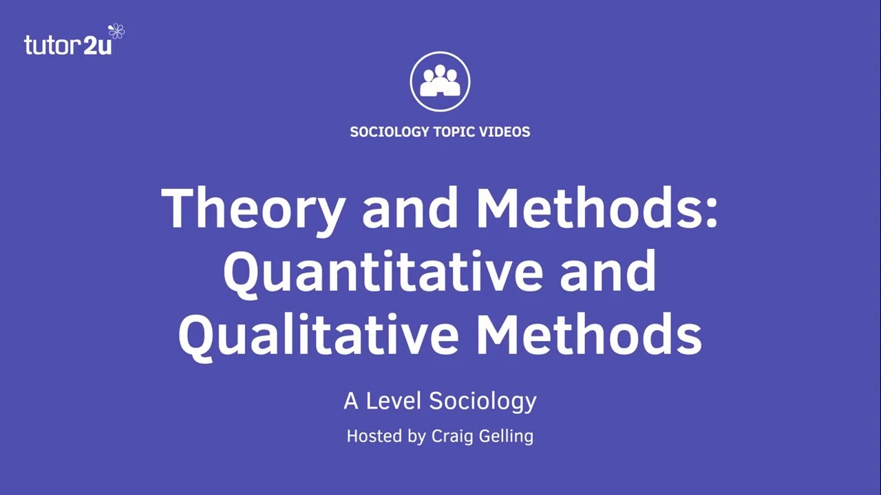 Research Methods in Sociology: Quantitative and Qualitative (Sociology Theory & Methods)