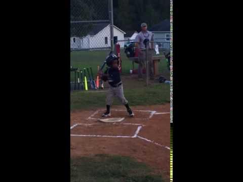 Matthews first hit playing Modified Pitch