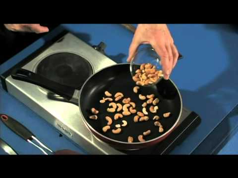 Toasting Cashews - quick, easy to do kitchen cooking basic