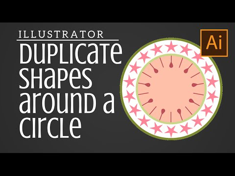 Duplicate Shapes around a Circle in Illustrator - Rotate & Distribute Shapes