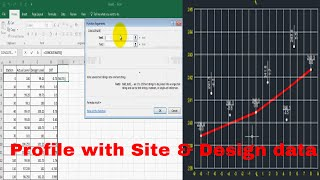 How to Create a Profile in Auto cad with actual & Design Elevation