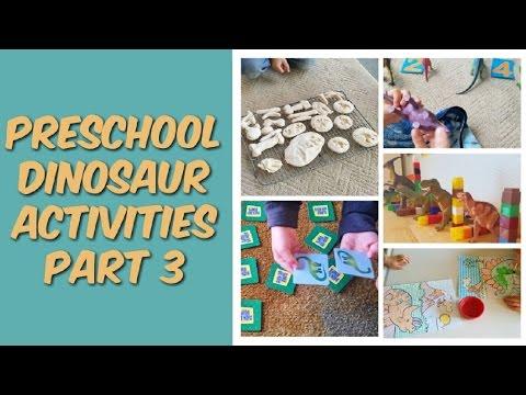 Preschool Dinosaur Activities // Part 3