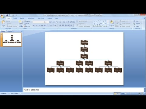 How to make organizational chart | Learn powerpoint easily