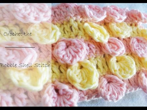 How to crochet The Bobble Shell Stitch