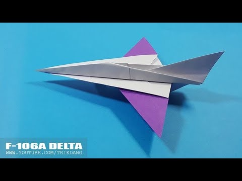BEST PAPER AIRPLANE for Kids - How to make a Paper Airplane Model | F-106A Delta Dart