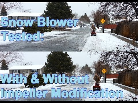 TEST snow blower Impeller Modification with and without