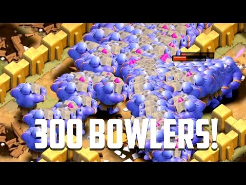 Clash of Clans - 300 BOWLER ATTACKS! Insane Gameplay