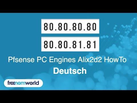 Freenom World Pfsense PC Engines Alix2d2 HowTo (German)