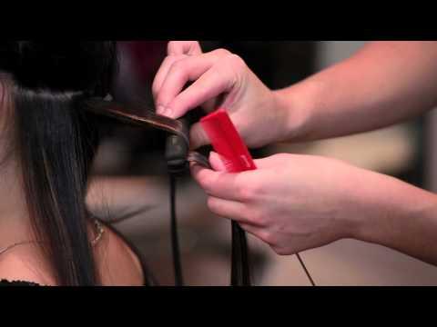 Mini straightener curls